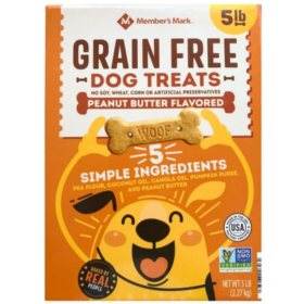 Member's Mark Grain-Free Dog Treats, Peanut Butter Flavored (5 lbs.)
