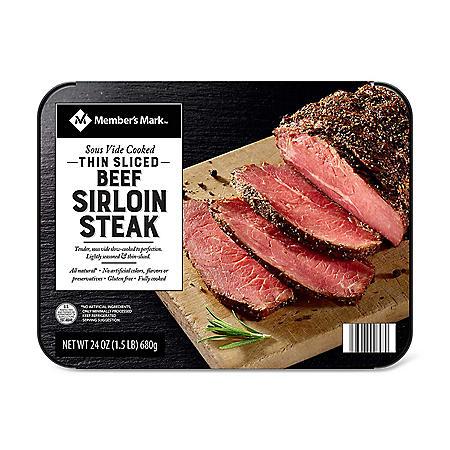 Member's Mark Sliced Beef Sirloin (24 oz.)