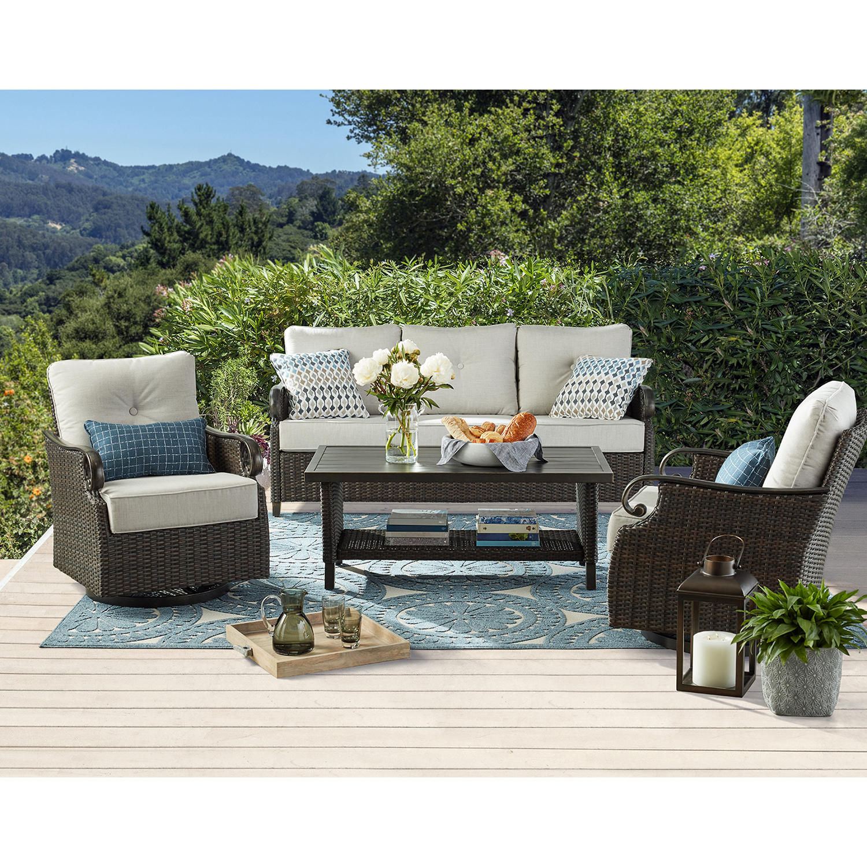 Member's Mark Ridgethorne 4-Piece Outdoor Deep Seating Sofa Set