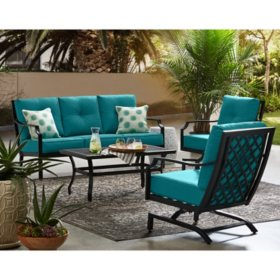 Member's Mark Barcelona 4-Piece Deep Seating Set, Peacock