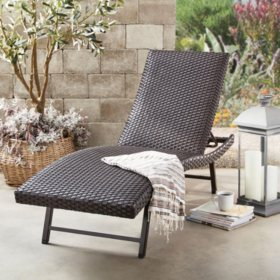 Member's Mark Padded Wicker Chaise, 2 Pk.