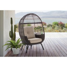 Member's Mark Stationary Egg Chair (Brown)