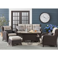 Member's Mark Agio Heritage 6-Piece Deep Seating Set with Sunbrella Fabric - Dove