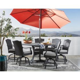Member's Mark Agio Heritage 7-Piece Hexagon Balcony Height Dining Set