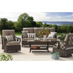 Member's Mark Agio Napa 4-Piece Deep Seating Set with Sunbrella Fabrics