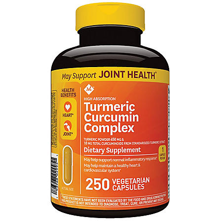 Member's Mark High Absorption Turmeric Curcumin Complex, Vegetarian Capsules (250 ct.)