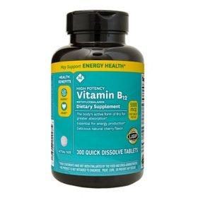 Member's Mark Sublingual Vitamin B12 5000mcg Methylcobalamin (300 ct.)