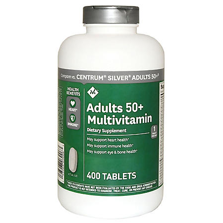 Member's Mark Adults 50+ Multivitamin (400 ct.)
