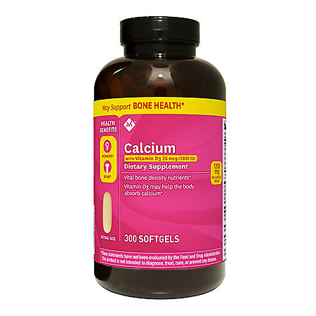 Member's Mark Calcium with Vitamin D-3 Dietary Supplement (300 ct.)