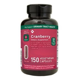 Member's Mark Clinical Strength 500mg Cranberry Dietary Supplement (150 ct.)