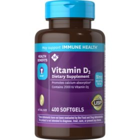 Member's Mark Vitamin D-3 2000 IU Dietary Supplement (400 ct.)