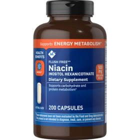 Member's Mark 500 mg Niacin Dietary Supplement (200 ct.)
