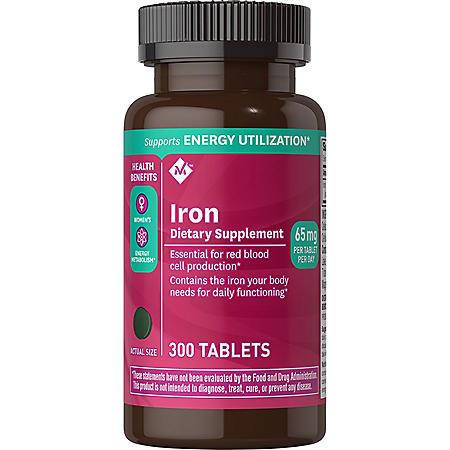 Member's Mark 65 mg Iron Dietary Supplement (300 ct.)