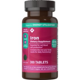 Member's Mark 65 mg Iron Dietary Supplement (300 ct.)