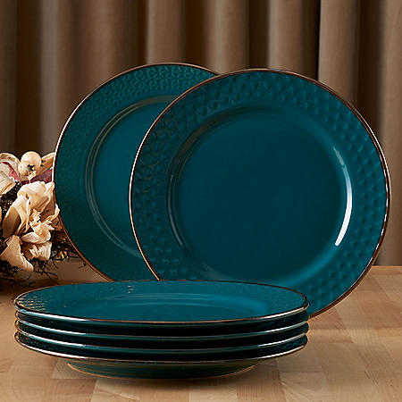 Member's Mark Textured Plates, Set of 6  (Assorted Colors)