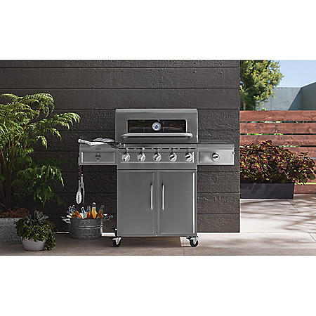 Member's Mark 5-Burner Stainless Steel Gas Grill with Glass Window