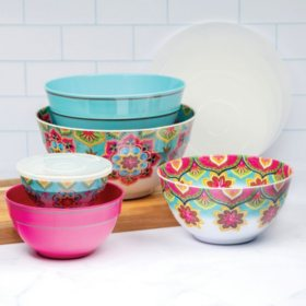 Member's Mark Melamine 10-Piece Mixing Bowl Set (Assorted Colors)