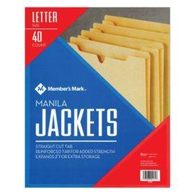 Member's Mark Manila File Jackets, Letter, 40/PK