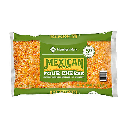 Member's Mark Fancy Shredded Mexican Style 4 Cheese Blend (5 lbs.)