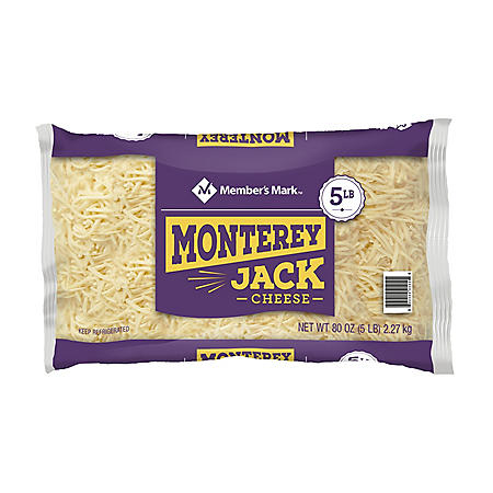 Member's Mark Standard Shredded Monterey Jack Cheese (5 lbs.)