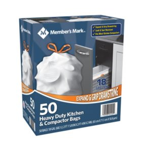 Member's Mark Heavy Duty Kitchen and Compactor Bags (18 gallon, 50 ct.)