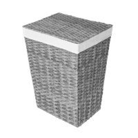Member's Mark Woven Lidded Laundry Hamper with Canvas Liner (Grey/Brown)