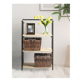 Member's Mark Decorative Woven Storage Baskets (2 Pk, Grey/Brown)
