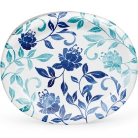 Member's Mark Watercolor Vines Oval Paper Plates (55 ct.)