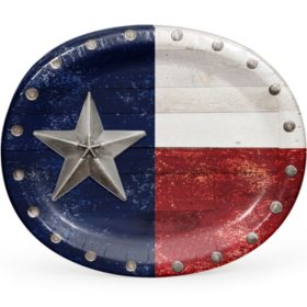 Member's Mark Heart of Texas Oval Paper Plates - 55 ct.