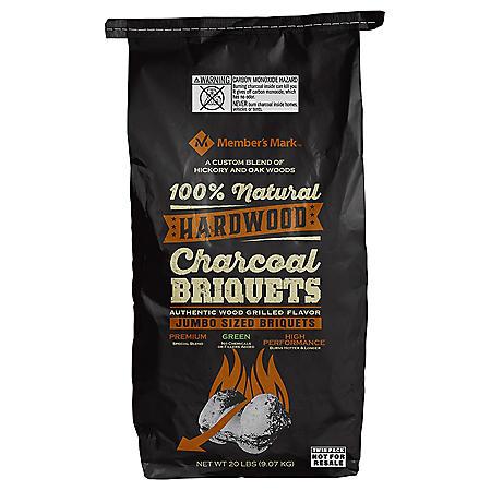 Member's Mark All Natural Hardwood Charcoal - 20 lbs. (2 Pack)