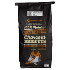 Member's Mark All Natural Hardwood Charcoal - 20 lbs. (2 Pack)