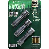 Member's Mark 3-Pack Focus Beam Tactical LED Flashlights