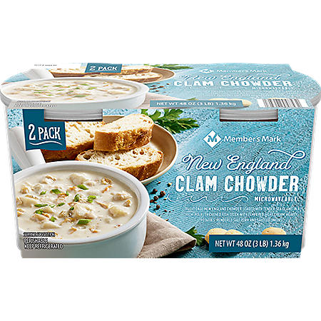 Members Mark New England Clam Chowder (24 oz. cups, 2 pk.)
