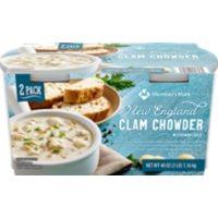Member's Mark New England Clam Chowder (24 oz. cups, 2 pk.)