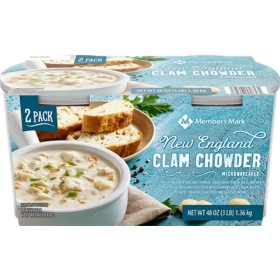 Member's Mark New England Clam Chowder (24 oz. cups, 2 pk.)