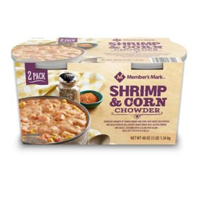 Member's Mark Shrimp and Corn Chowder (24 oz. tub, 2 ct.)