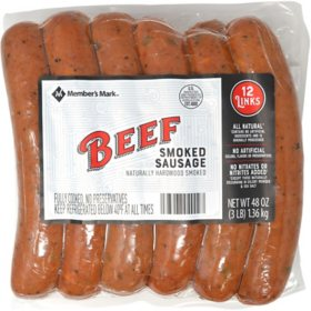 Member's Mark Beef Smoked Sausage (12 ct.)