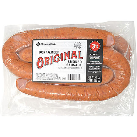 Member's Mark Pork and Beef Smoked Sausage Rings (3 lbs.)