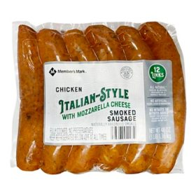Member's Mark Smoked Italian-Style Chicken Sausage With Mozzarella (12 links)