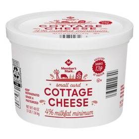 Member's Mark 4% Milkfat Cottage Cheese, Small Curd (3 lbs.)