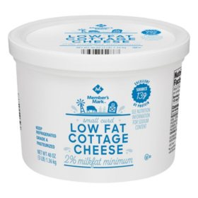 Member's Mark 2% Low Fat Cottage Cheese, Small Curd (48 oz.)