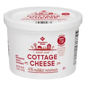 Member's Mark 4% Milkfat Small Curd Cottage Cheese (3 lbs.)