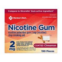 Member's Mark Nicotine Coated Gum 2mg, Cinnamon Flavor (300 ct.)