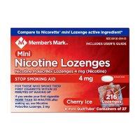 Member's Mark Mini Nicotine Lozenge 4mg, Cherry Ice Flavor (27 ct., 8 pk.)