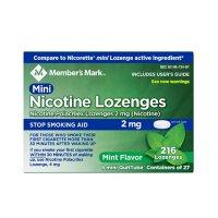 Member's Mark Nicotine 2mg Mint Mini Lozenge (216 ct.)