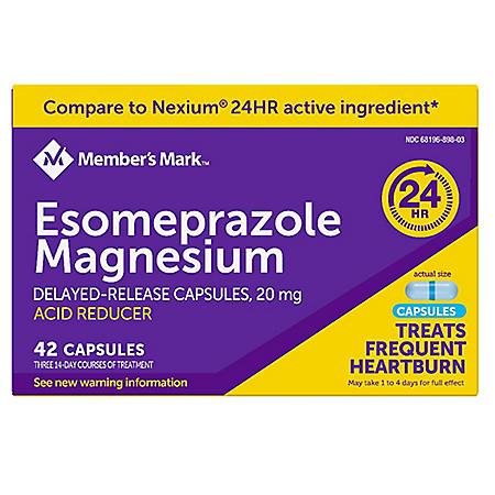 Member's Mark Esomeprazole Magnesium Capsules, 20 mg (42 ct.)