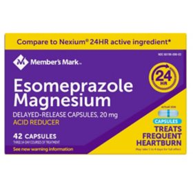 Member's Mark Esomeprazole Magnesium Delayed Release Acid Reducer Capsules, 20mg (42 ct.)