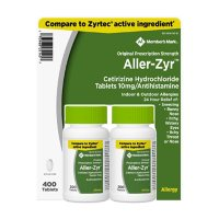 Member's Mark Aller-Zyr, Cetirizine HCl, 10mg, Antihistamine (400 ct.)