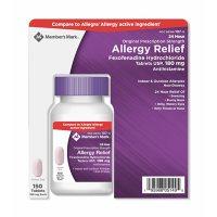 Member's Mark 180mg Allergy Relief, Fexofenadine (150 ct.)