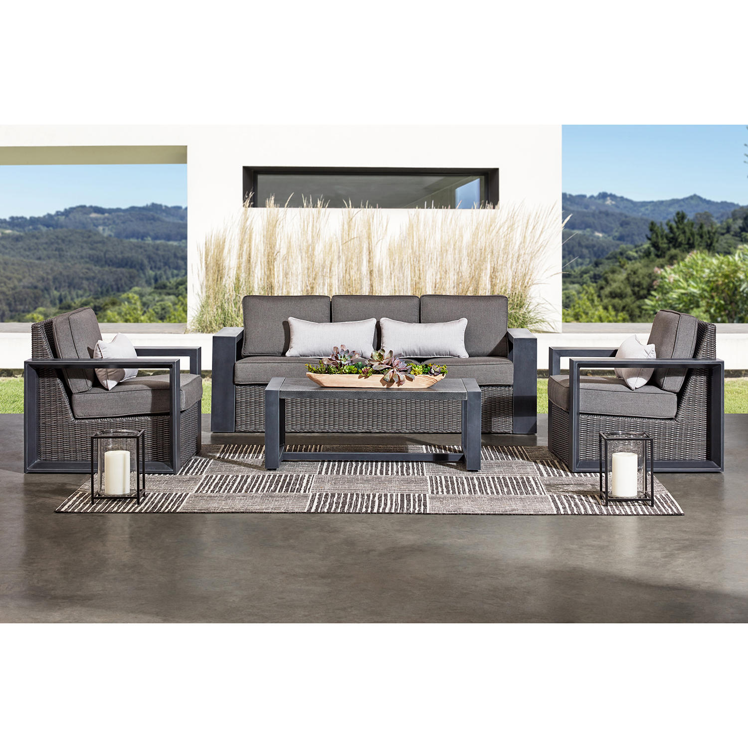 Member's Mark Adler 4-Piece Patio Seating Sofa Set
